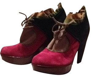 Kron by KronKron Black/brown/green, Pink Platforms