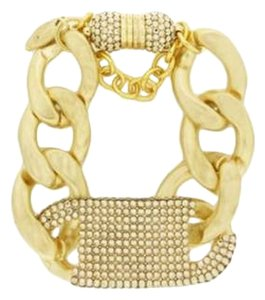 Roni Blanshay Gold Shadow Pave Crystal Link