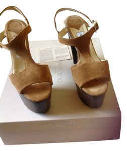 Jimmy Choo Suede Whiskey Platforms