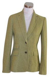 J.Crew Hacking Tweed 4 Herringbone Green Blazer
