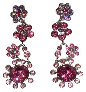 Givenchy Givenchy Pink Crystal Silvertone Earrings