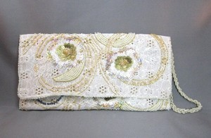 Embroidered Evening Beiges Clutch