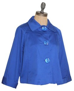 Chico's Cobalt Crop BLUE Jacket