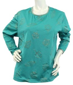 Blair Longsleeve Stretchy Top GREEN