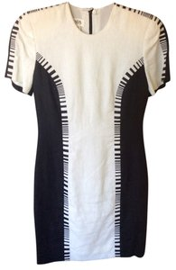 Escada Linen Black White Dress
