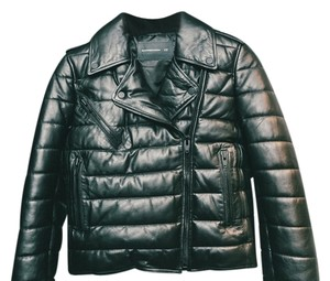Alexander Wang X H&m Moto Leather Quilted Leather Jacket