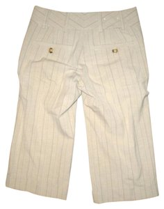 Calvin Klein Dress Pants Capris BEIGE PIN STRIPED