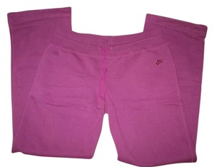 Nike Fleece Athletic Xl Athletic Pants Plum