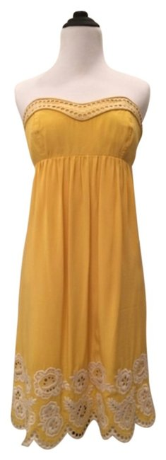 Preload https://item2.tradesy.com/images/shoshanna-yellow-knee-length-cocktail-dress-size-4-s-1012451-0-1.jpg?width=400&height=650