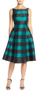 Adrianna Papell Sleeveless Striped Midi Cocktail Tea Dress