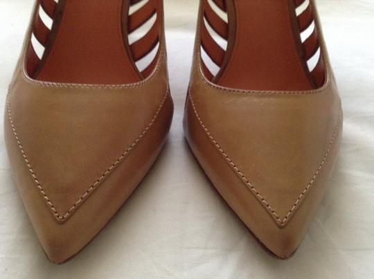 Via Spiga Leather With Cut Outs New And Unworn Soles Are Completely Scratch Free tan Pumps