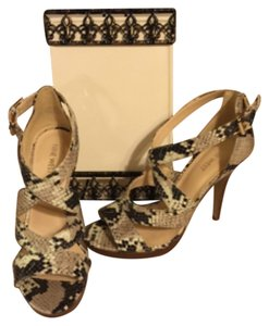 Nine West Tan, Brown, Black, White Platforms