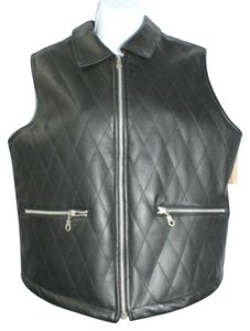 Generra Faux Leather Vest