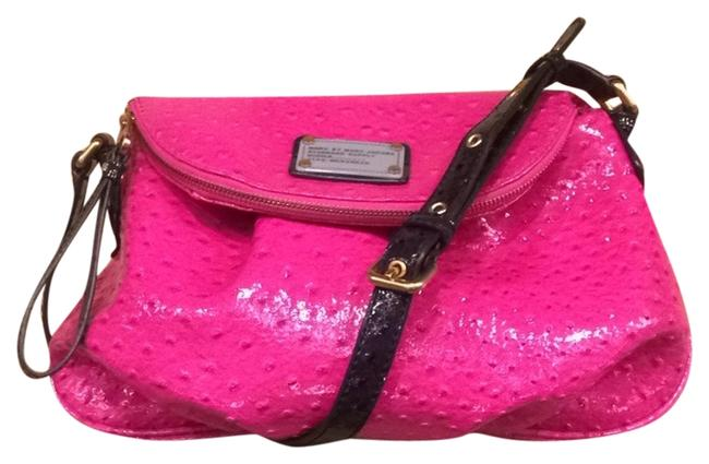 Item - 6805 Pink Patent Leather Messenger Bag