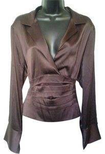 Renfrew Silk Designer New York Top Brown