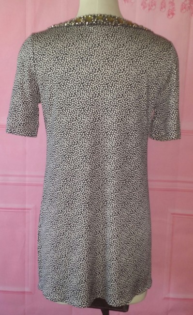 Tory Burch short dress Black Shift Beaded Jewel Neckline Sold Out Tunic Small Xs Polka Dot Spot & White Mod Mad Men on Tradesy