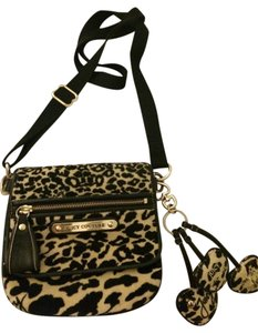 Juicy Couture Leather Velour Cross Body Bag