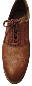 J SHOES Oxford Leather Classic Tan Flats