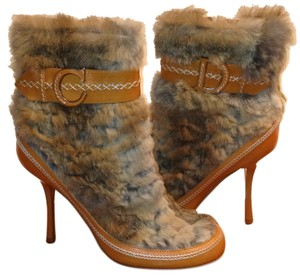 Dior Brown/beige fur Boots