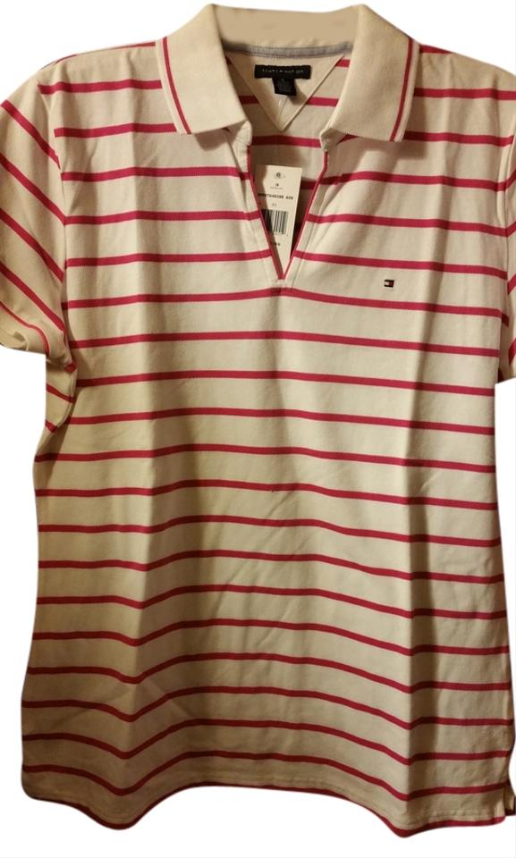 189d6a5a Tommy Hilfiger Pink and White Tee Shirt Size 16 (XL, Plus 0x) - Tradesy