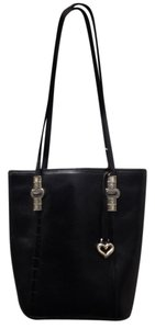 Brighton Leather Casual Career Chic Tote in Black