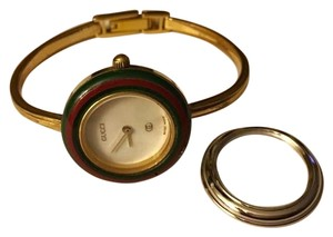 Gucci Gucci 1100L swiss made all original bangle watch + extra bezel (working)