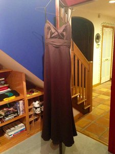 Jim Hjelm Chocolate Dark Brown Jim Hjelm Brown Chiffon Evening Gown Dress