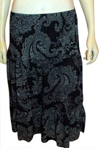 Monterey Bay Dress Size Medium Beige Stretch Long P656 Maxi Skirt BLACK