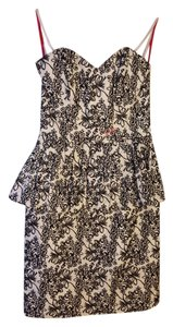 Betsey Johnson Embroidered Floral Strapless Dress