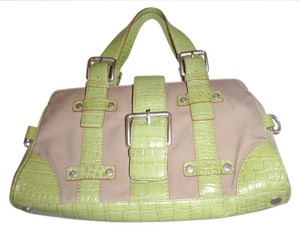 Michael by Michael Kors Satchel Handbag Vintage Tote in cream/ green