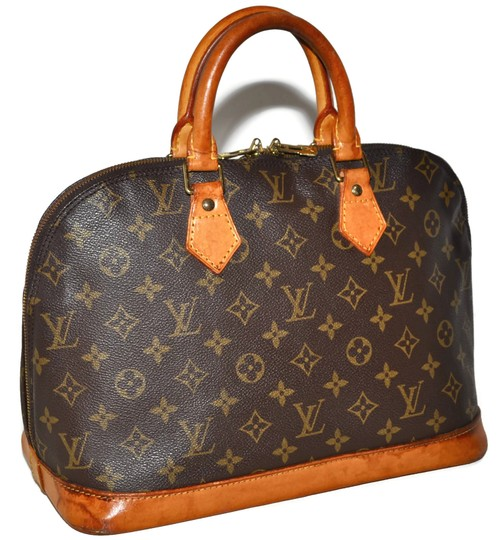 Louis Vuitton Alma Luxury Pre Owned Satchel in Brown