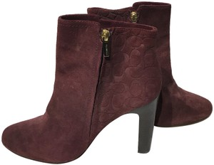 Coach Red Wine Boots