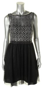Aqua short dress Black Silver on Tradesy