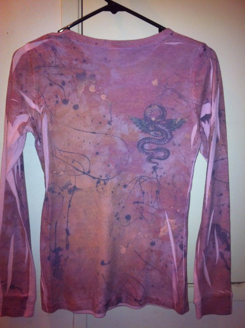 Mushka by sienna rose T Shirt Pink with splotches of gray