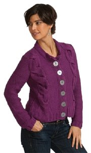 Pure Collection Eclectic Knit Button Detail Cardigan