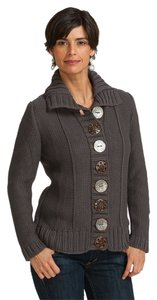 Pure Collection Eclectic Knit Button Detail Sweater Cardigan