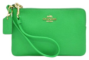 Coach Leather Wristlet in Green