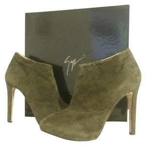 Giuseppe Zanotti Suede Army Green Boots