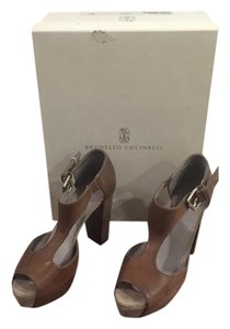 Brunello Cucinelli Dark Brown Sandals