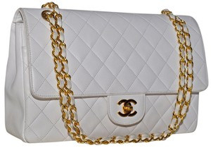 Chanel Paris Quilted Lambskin Leather Lamb Lamb Skin Quilted Lambskin Quilted Leather Quilted Gold Chain Gold Turnlock Turn Shoulder Bag