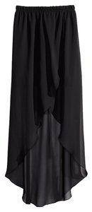Divided by H&M Hi Lo Chiffon Sheer Skirt Black