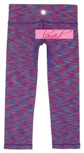 Lululemon Lulu Leggings Skinny Active Capris Pink, Blue