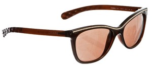 Chanel Chanel Brown Metal Detail Sunglasses c.538/S7