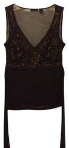 New York & Company Top Dark Brown