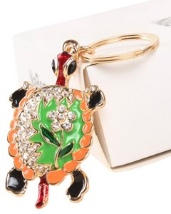 Other New Turtle Keychain Ring Big Green Gold Black Orange J1733