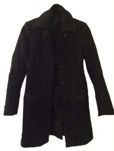 Theory Leather Collar Formal Coat