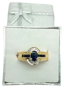Other 14K Sapphire and Diamond Ring