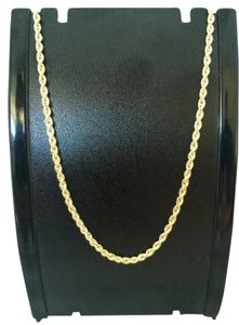 14K Solid Yellow Gold Rope Chain 16 Inches