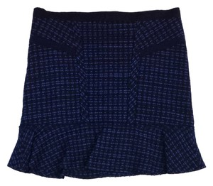 Marc by Marc Jacobs Blue Tweed Flared Skirt