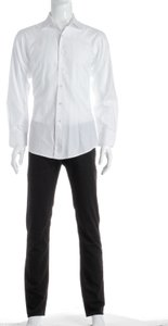 David August David August White Men's Button Down Shirt (size 50)